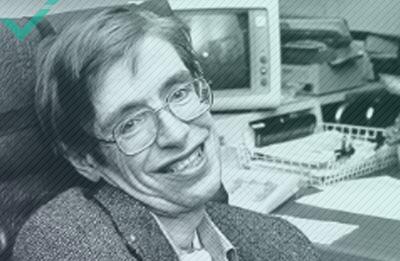 Stephen Hawking, auteur, theoretisch natuurkundige en kosmoloog (1942-2018)